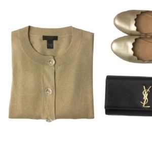 J CREW collection Cashmere silk shimmer cardigan M